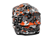 HELMET GRAPHICS KIT ''Camo Orange'' DESIGN
