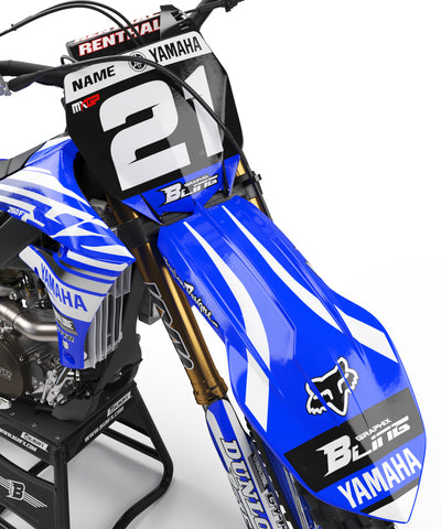 YAMAHA NUMBER PLATES KIT ''YZ RACING'' DESIGN