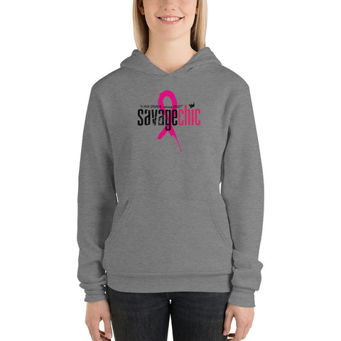 """LIMITED EDITION PINK RIBBON x SAVAGE CHIC BREAST CANCER AWARENESS HOODIE"""