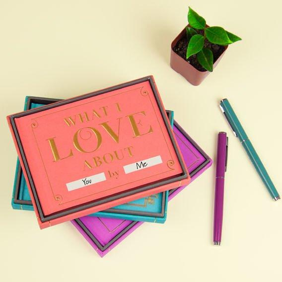 What I Love about You Fill in the Love Journal with Gift Box