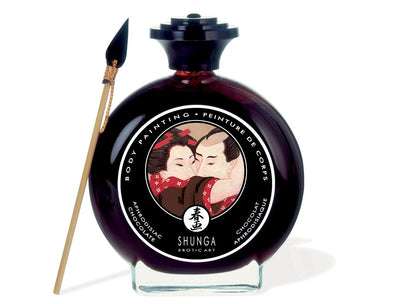 Shunga Body Paint in Solid Glass Bottle, 3.5-Ounce Bottle