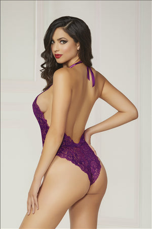 Purple Passion Lace Teddy