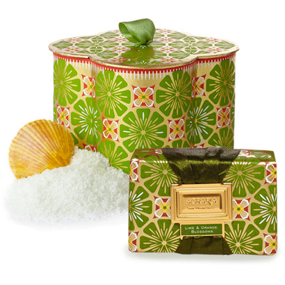 Lime & Orange Blossoms Agraria Luxury Bath Salts & Bath Bar