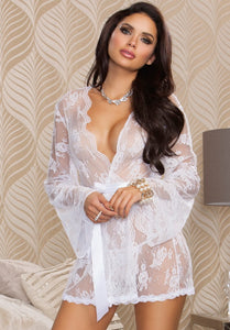 Lace Robe with Butterfly Sleeves