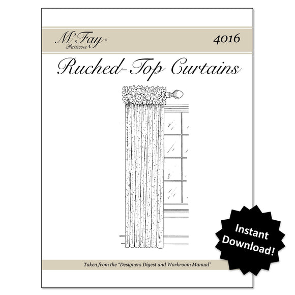Ruched Top Curtains