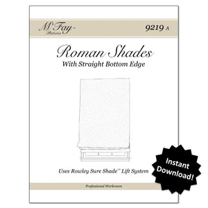 (9219A) Roman Shades With Straight Bottom Edge