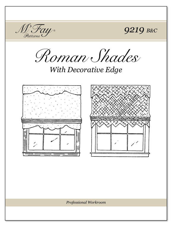 Roman Shades With Decorative Bottom Edge