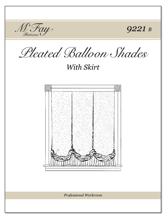 Pleated Balloon Shades With or Without Skirt