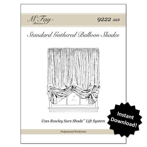 (9222AB) Standard Gathered Balloon Shades