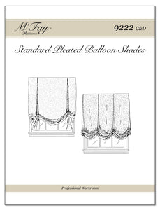 Standard Pleated Balloon Shades