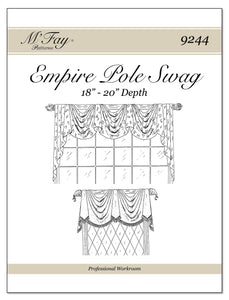"Empire Pole Swag 18"" - 20"" Depth"