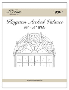 "Kingston Arched Valance 66"" - 76"" Wide"