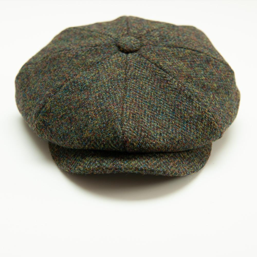 Captain Fawcett's Harris Tweed Baker Boy Cap