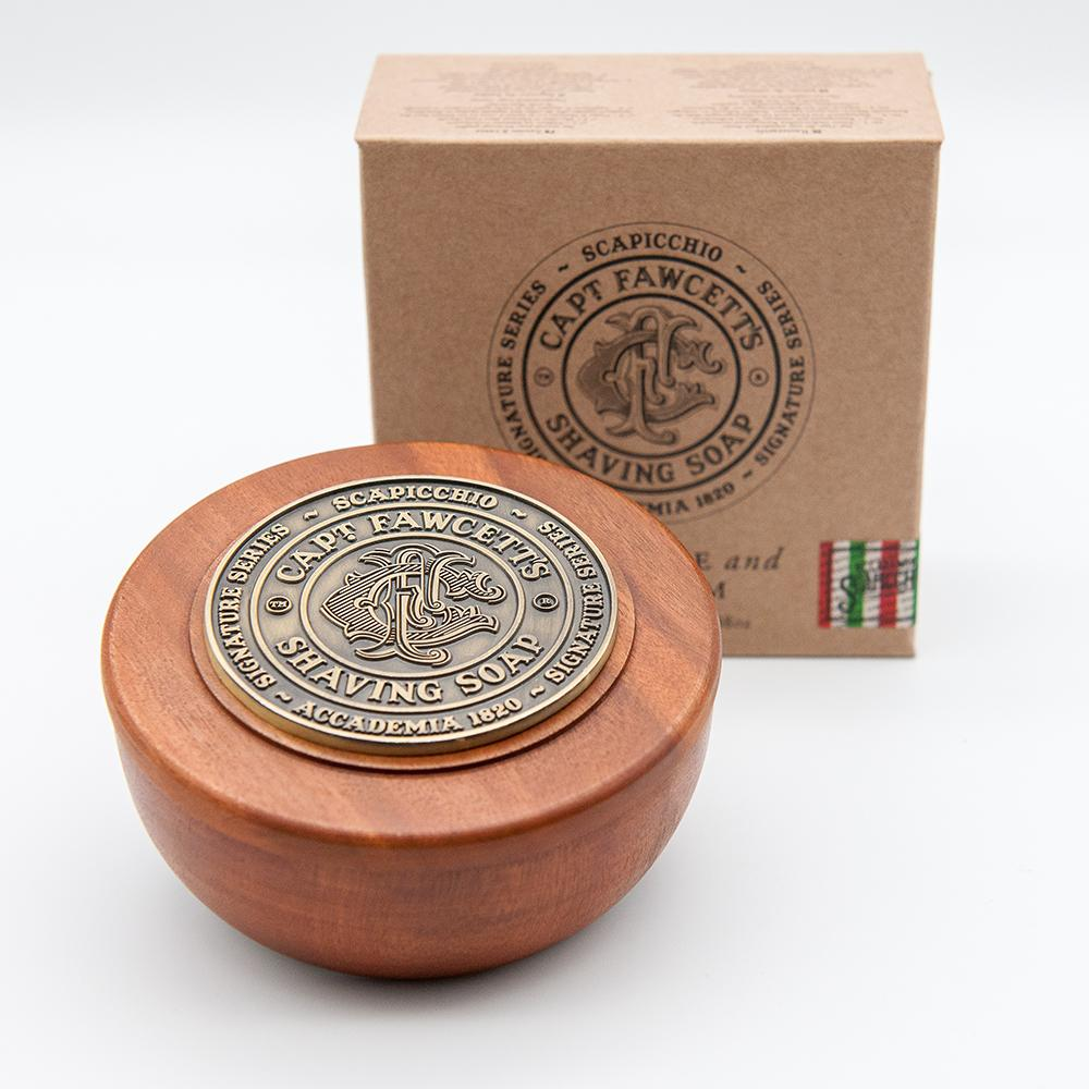 Captain Fawcett's Scapicchio's Fig, Olive & Bay Rum Shaving Soap