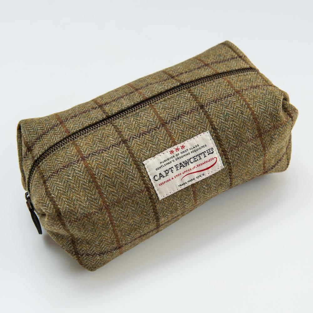 Captain Fawcett's Tweed Wash Bag (CF.318)