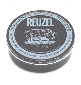 Reuzel Extreme Hold Matte Pomade - XL 12oz Tin