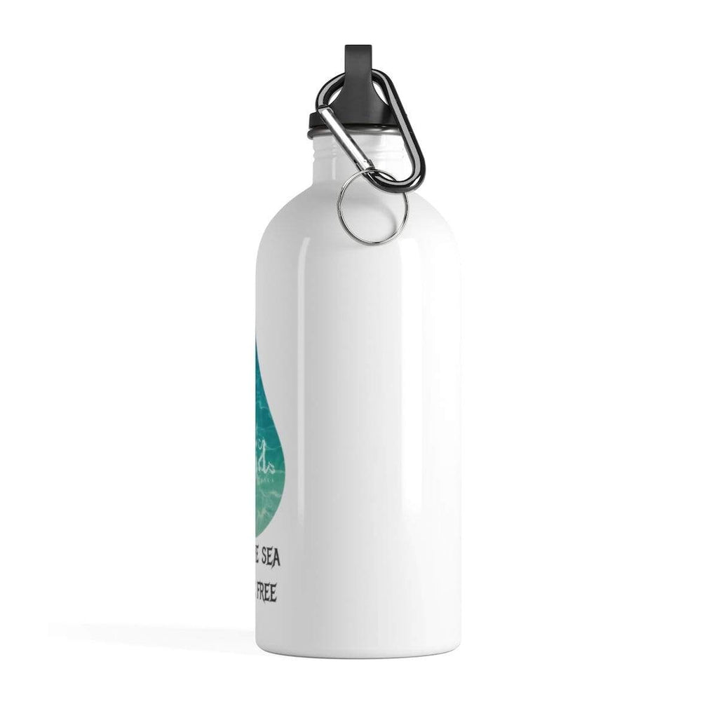 "AniaBmusic Drinkware 14oz ""Keep The Sea Plastic Free""  water bottle"