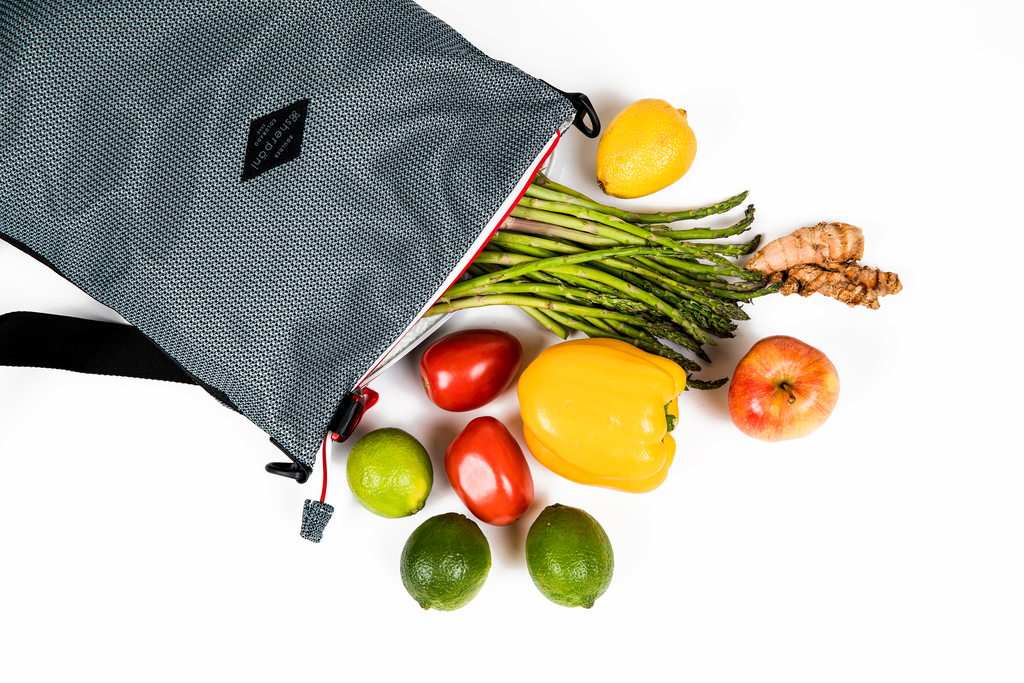Mesh bag with produce