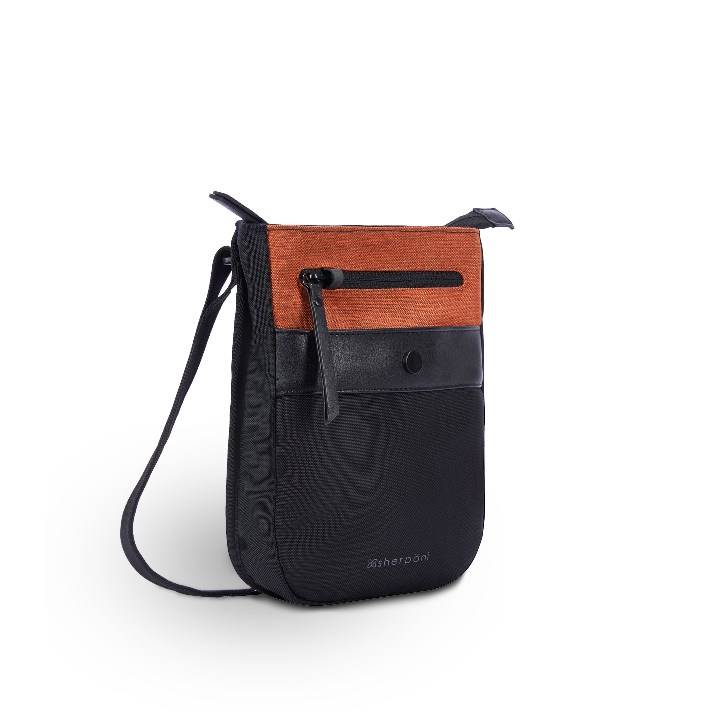 Orange Anti-theft Crossbody (3/4 Side) with anti-theft features