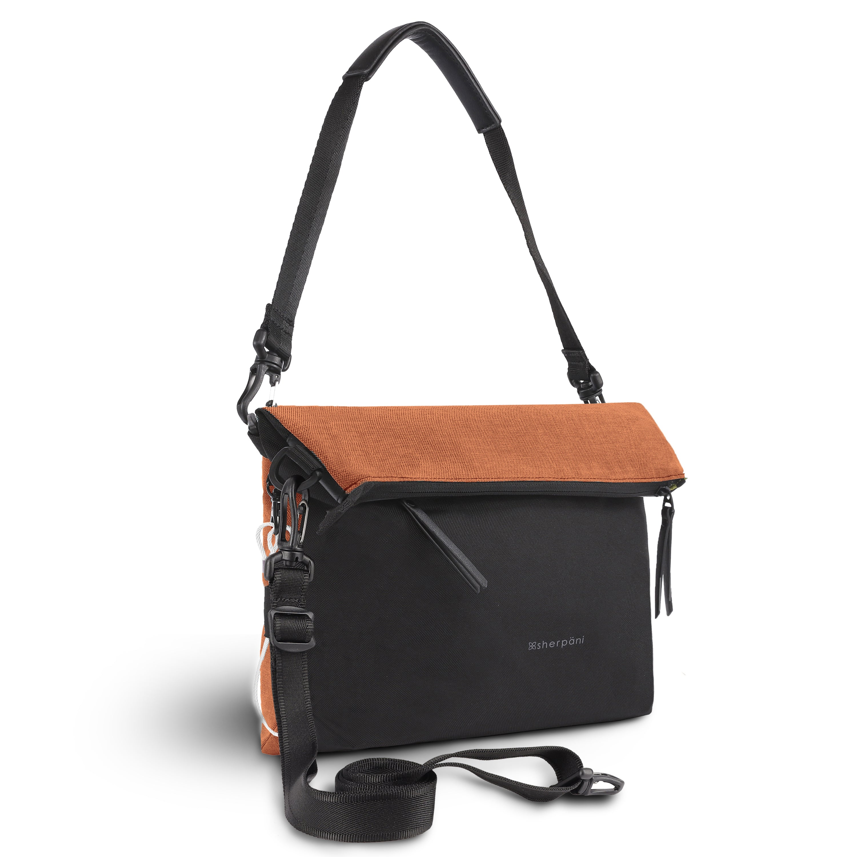 Orange Anti Theft Reversible Crossbody (3/4 Side) with anti-theft features