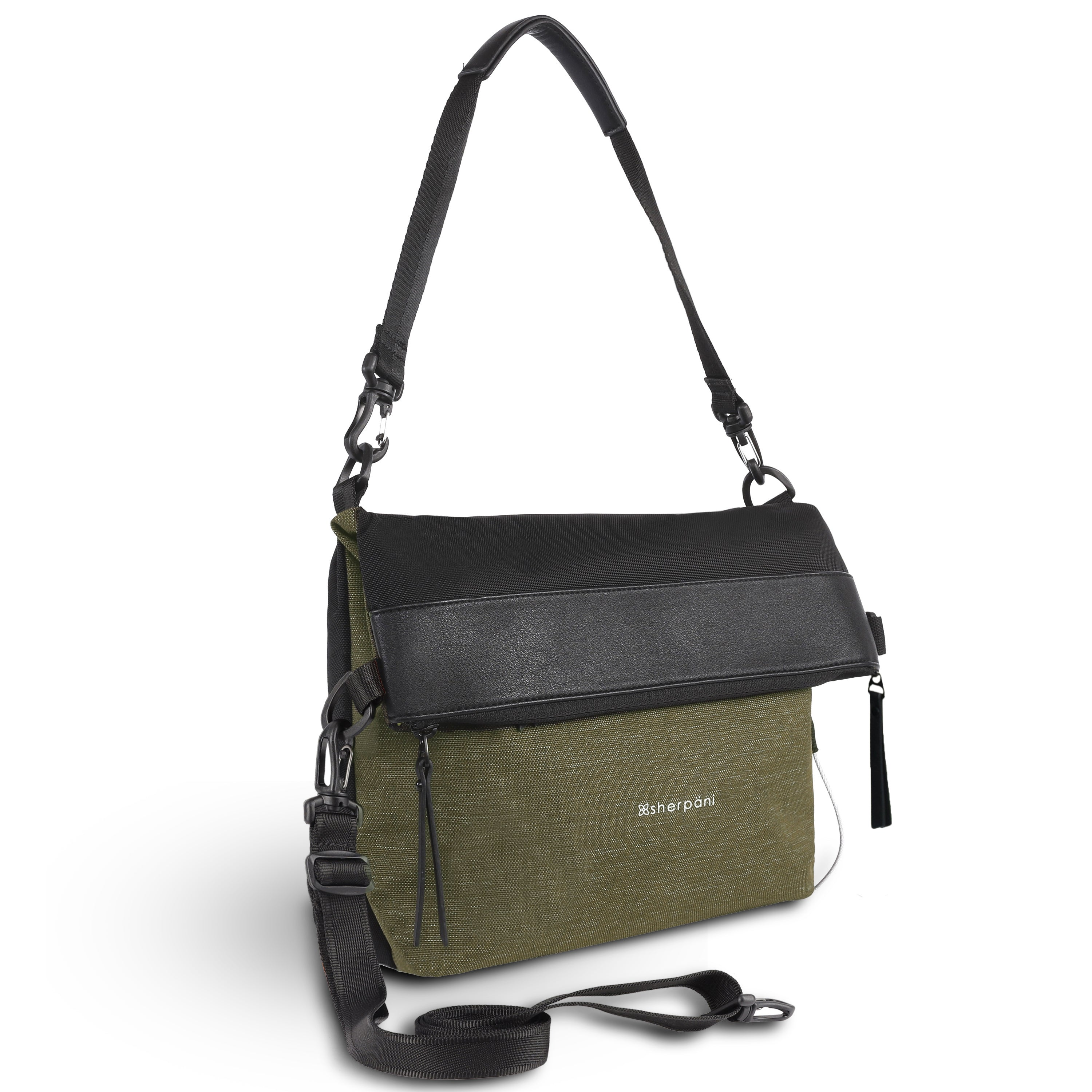 Green Anti Theft Reversible Crossbody (3/4 Side) with anti-theft features