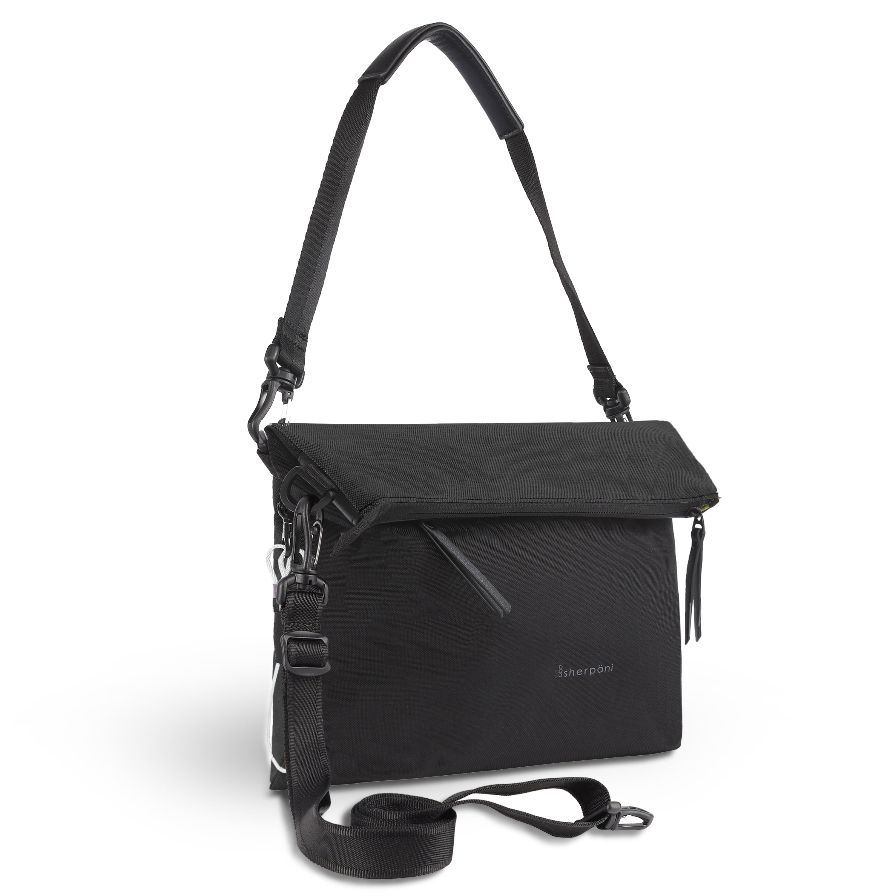 Black Anti Theft Reversible Crossbody (3/4 Side) with anti-theft features