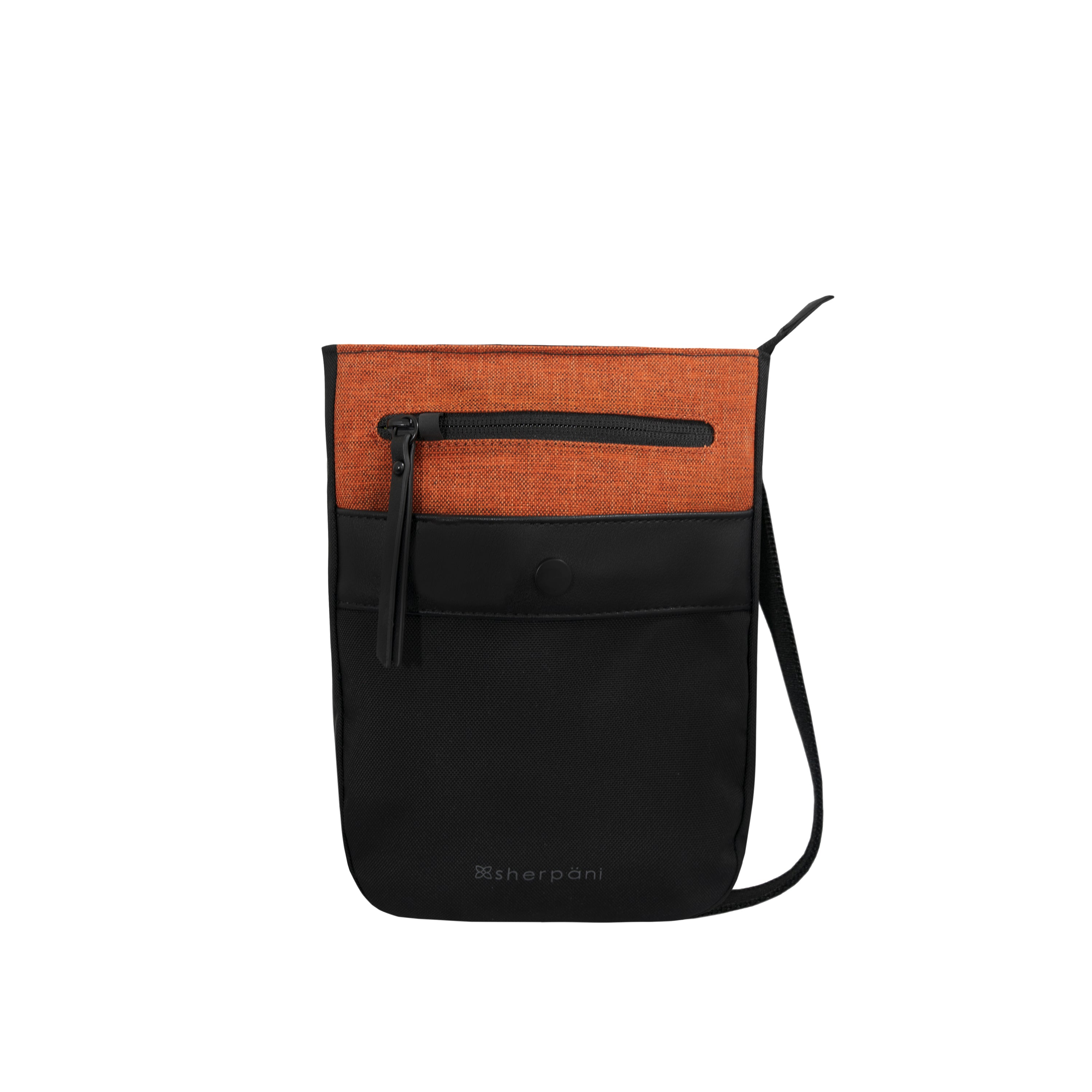 Orange Anti-theft Crossbody (front view) with anti-theft features