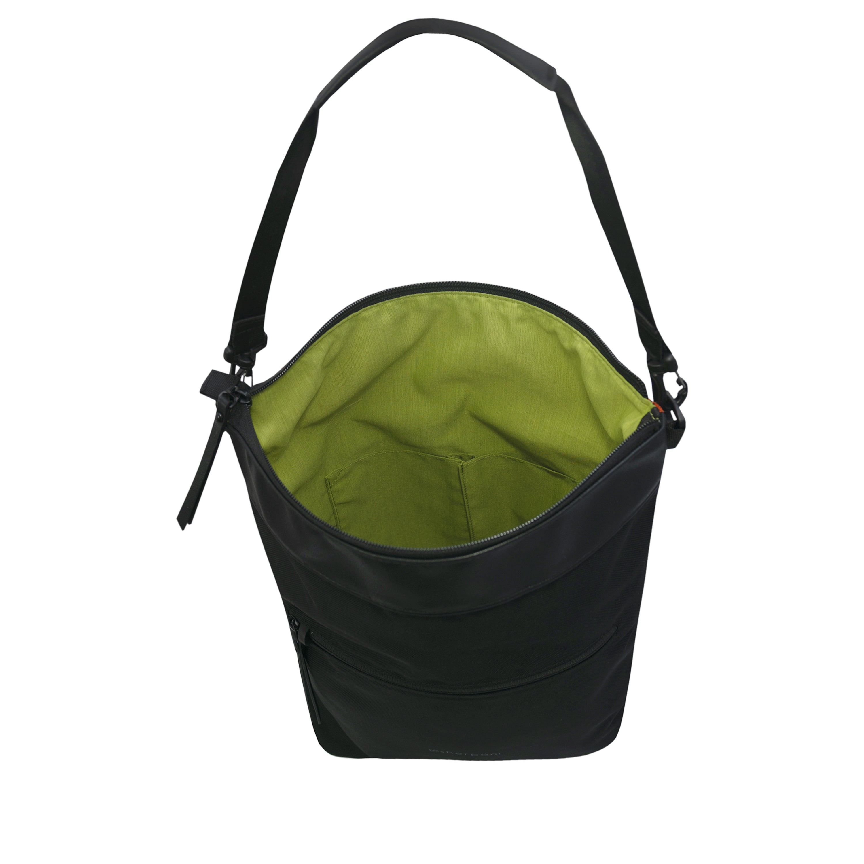 Black Anti Theft Reversible Crossbody (interior main zipper compartment) with anti-theft features