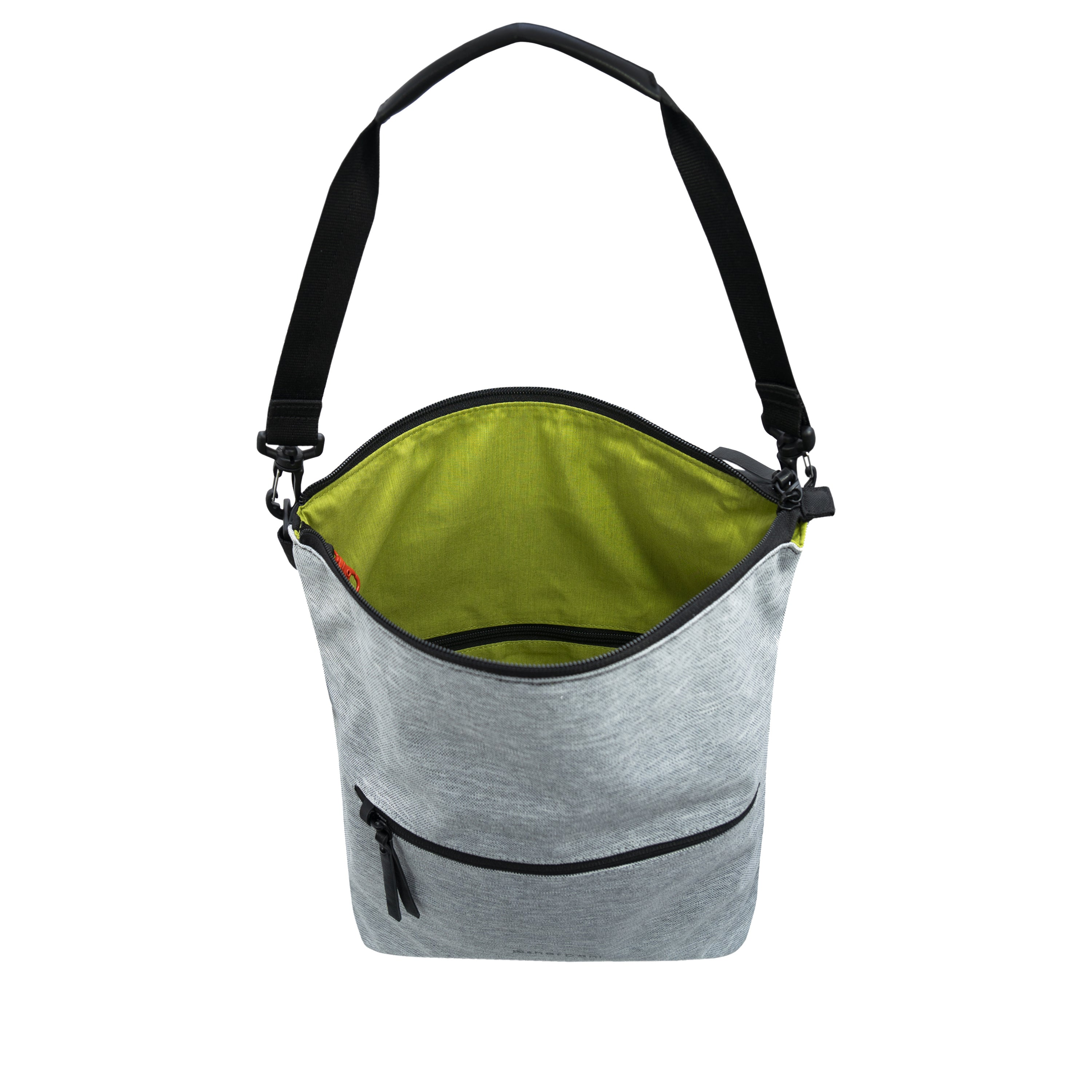 White Anti Theft Reversible Crossbody (interior main zipper compartment) with anti-theft features