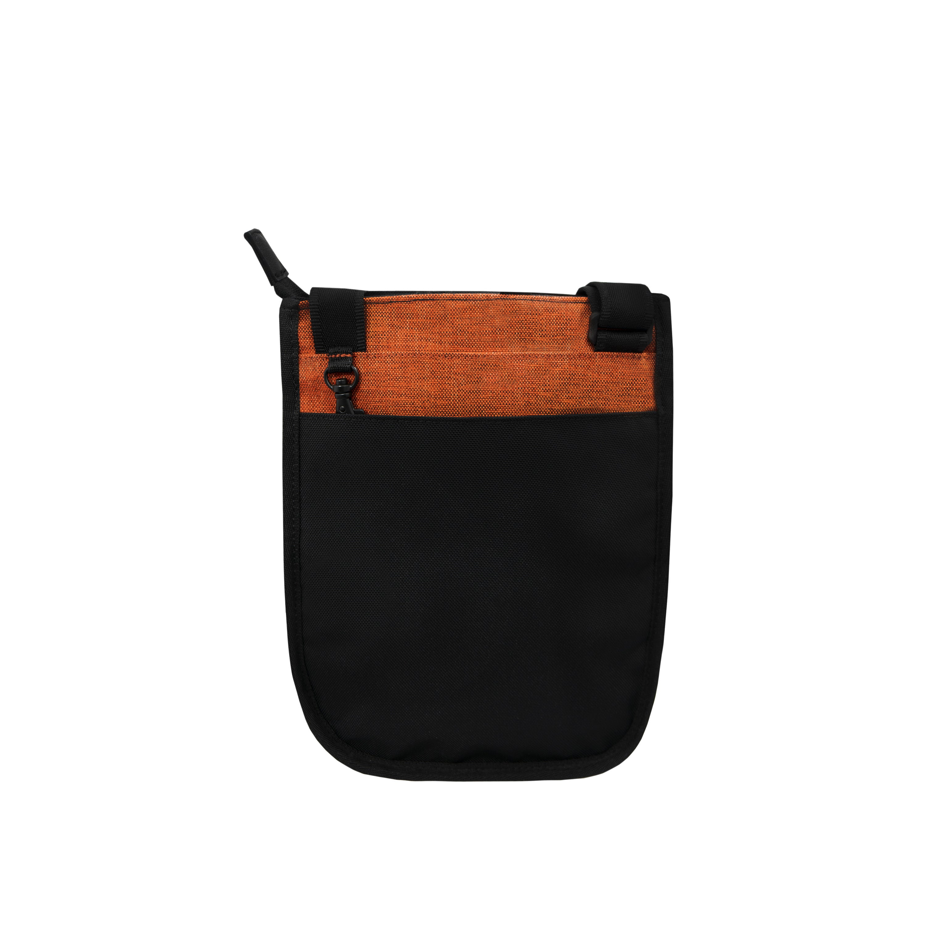 Orange Anti-theft Crossbody (back view) with anti-theft features