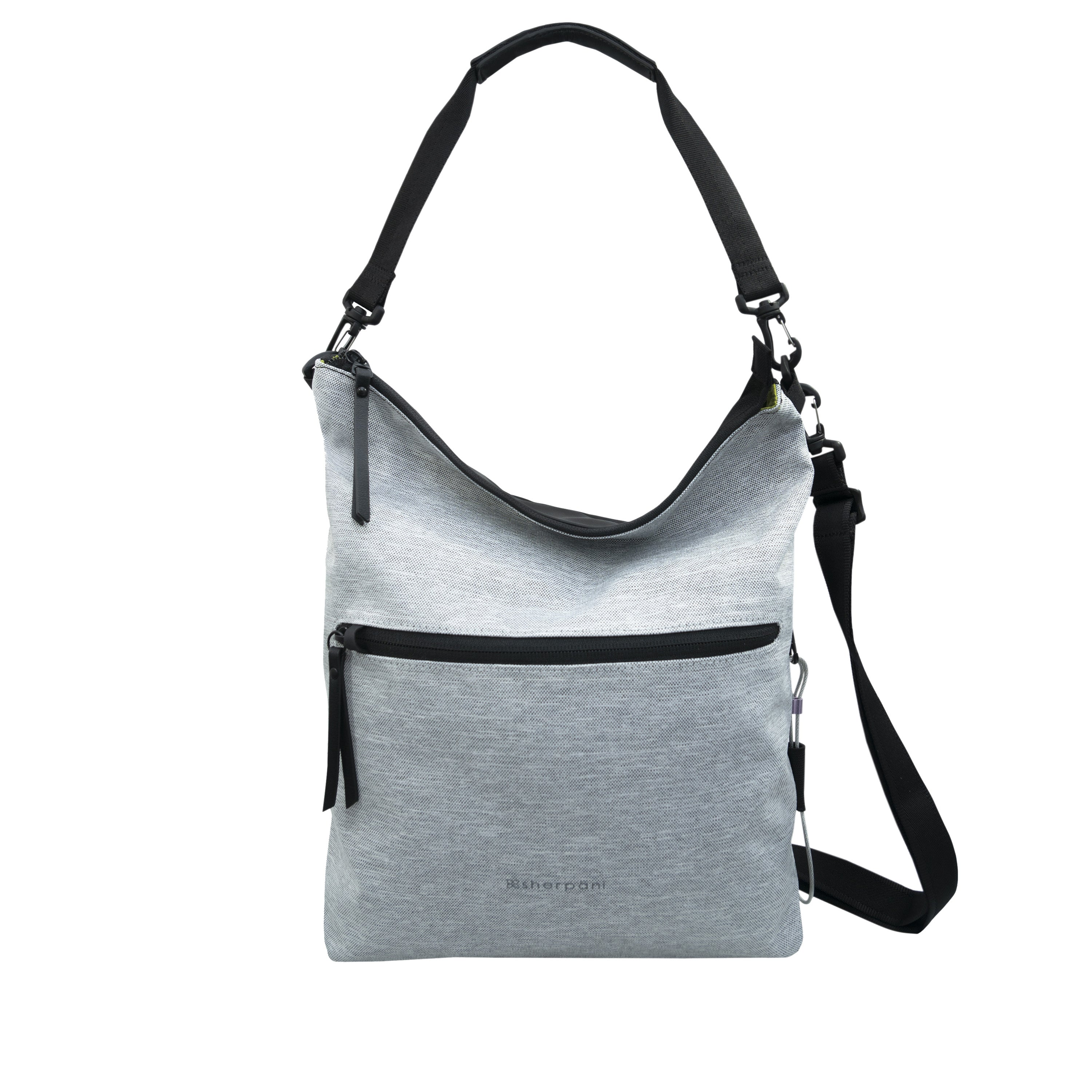 White Anti Theft Reversible Crossbody (front view) with anti-theft features