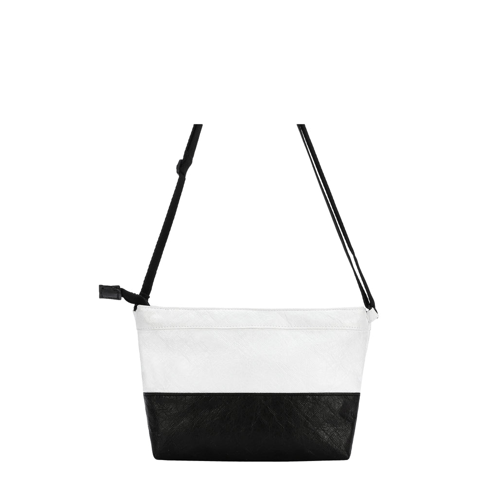 Cali Crossbody (Back) in Tyvek Collection (Black/White)