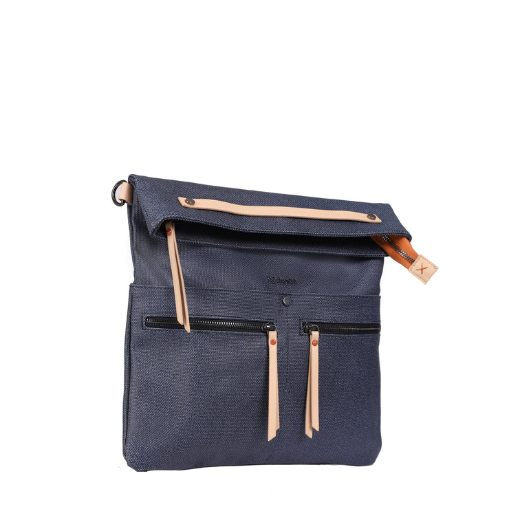 Sherpani Faith 2.0, Fashion Crossbody Bag, Shoulder Bag for Women, with 7 Inch Tablet Compatibility, Vegan Leather Accents (Indigo)