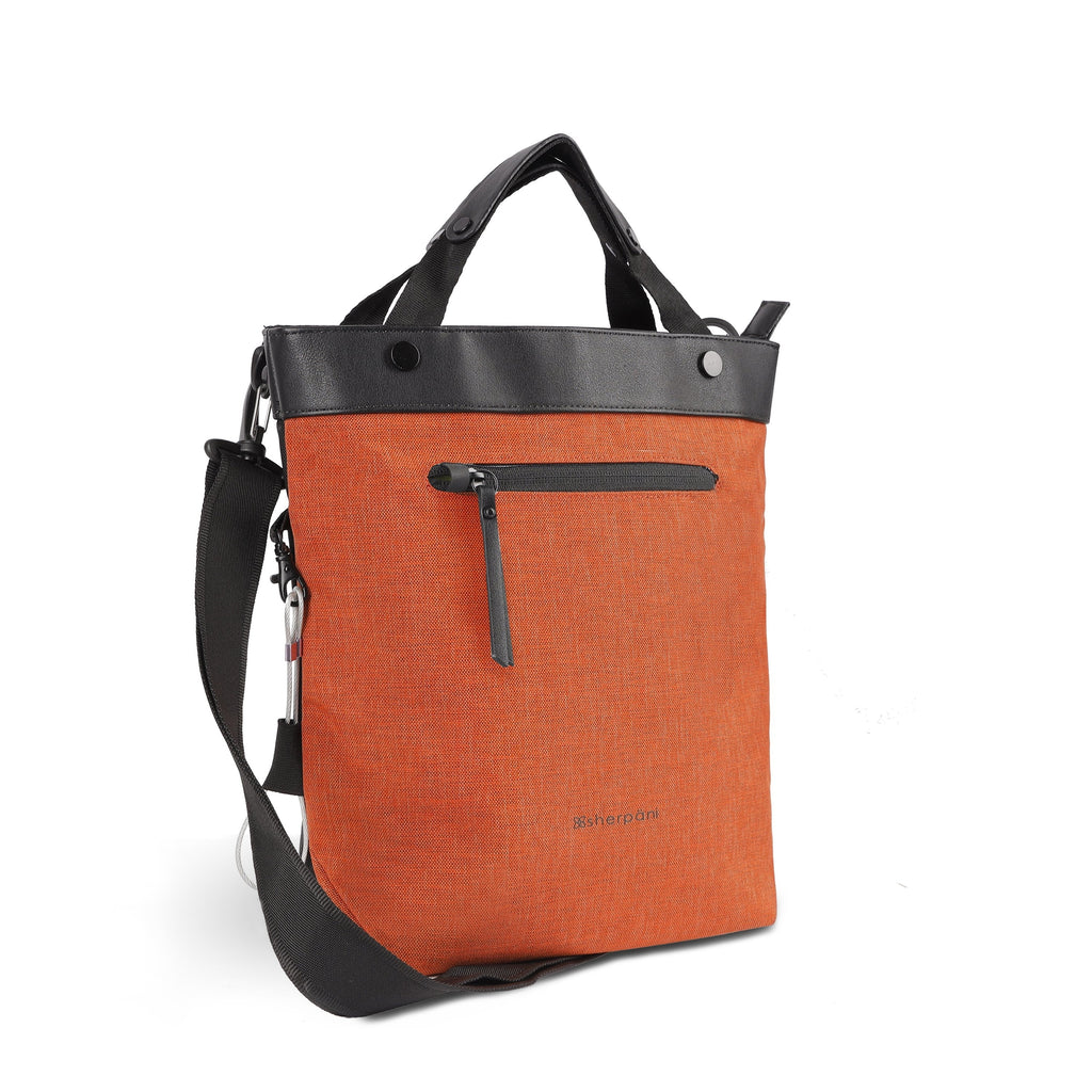 Orange Anti-theft Crossbody/Tote (3/4 Side) with anti-theft features