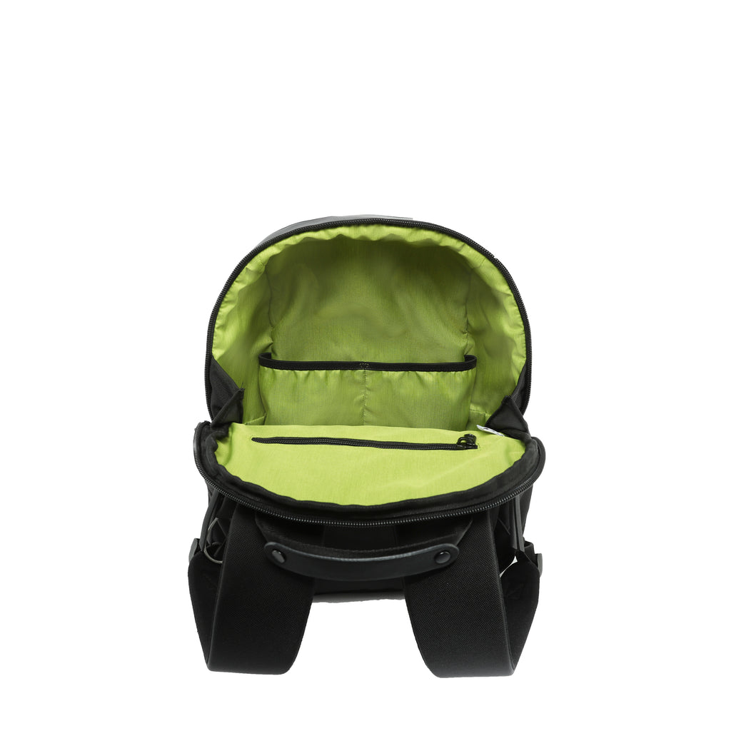 Black Anti-theft Backpack (interior main zipper compartment) with anti-theft features