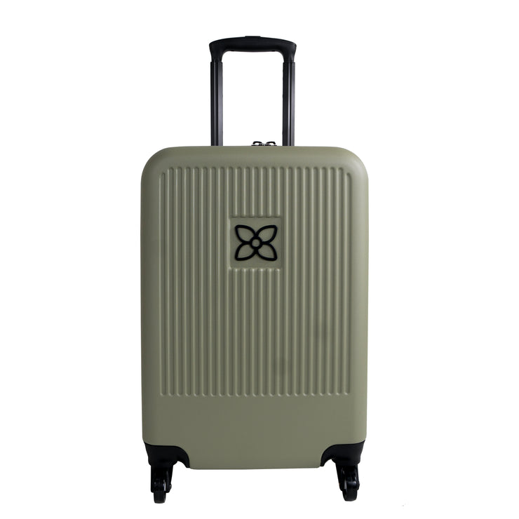 Sherpani Meridian, 22 Inch Luggage, Travel Hardside Luggage, Durable Suitcase, Lightweight Carry On Luggage with Spinner Wheels (Sage)