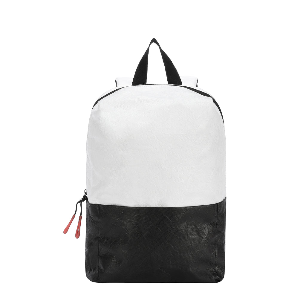 Mia Backpack (Front) in Tyvek Collection (Black/White)