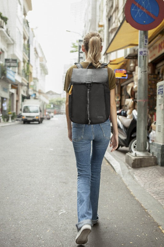 Pace Backpack (On model) in Essentials Collection (Raven)