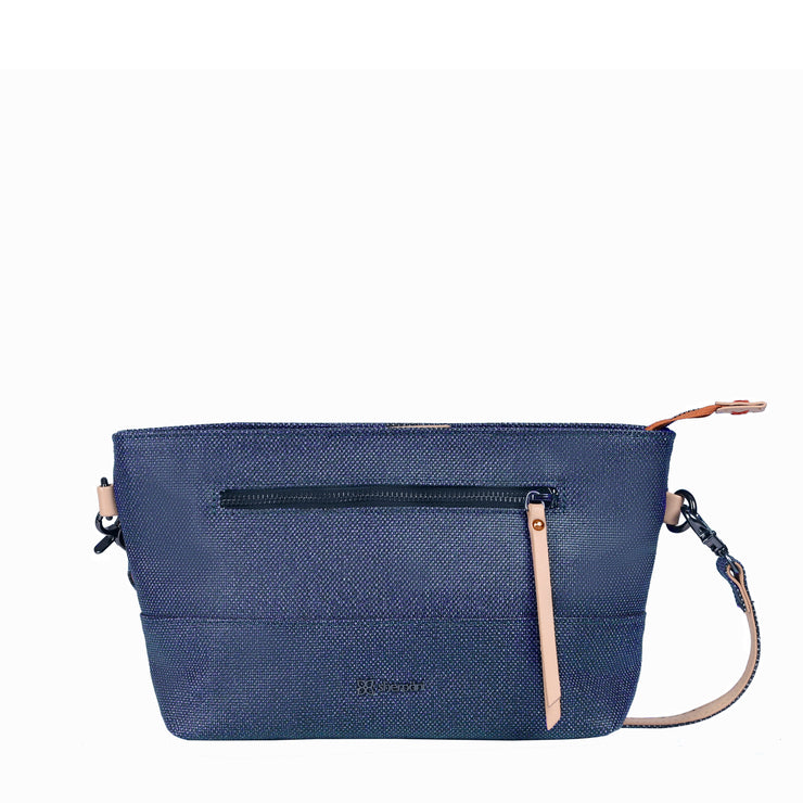 Sherpani Paige, Fashion Wristlet, Everyday Purse, Crossbody Purse and Crossbody Bag for Women, made from Hand-Painted Canvas (Indigo)