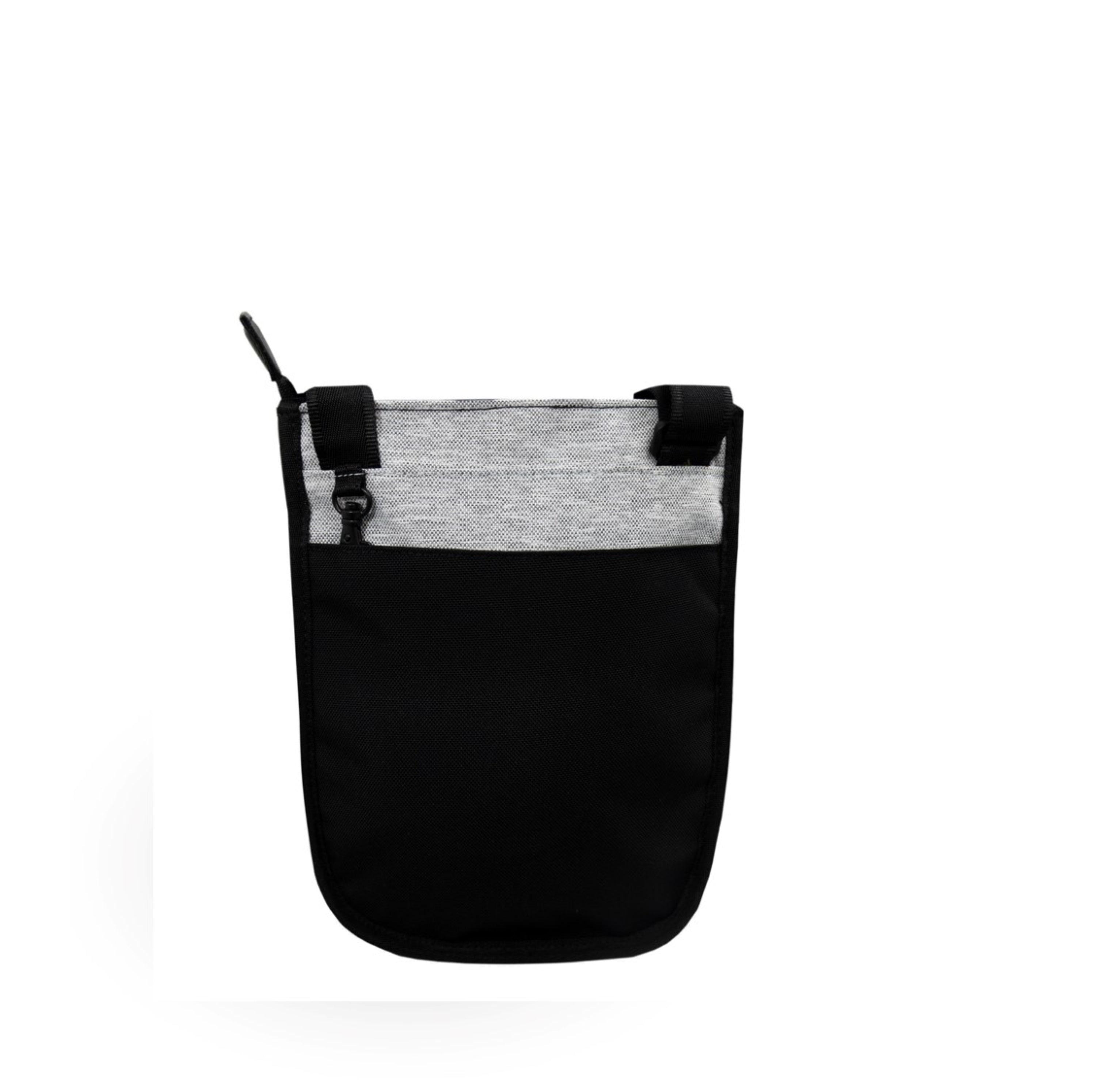 White Anti-theft Crossbody (back view) with anti-theft features