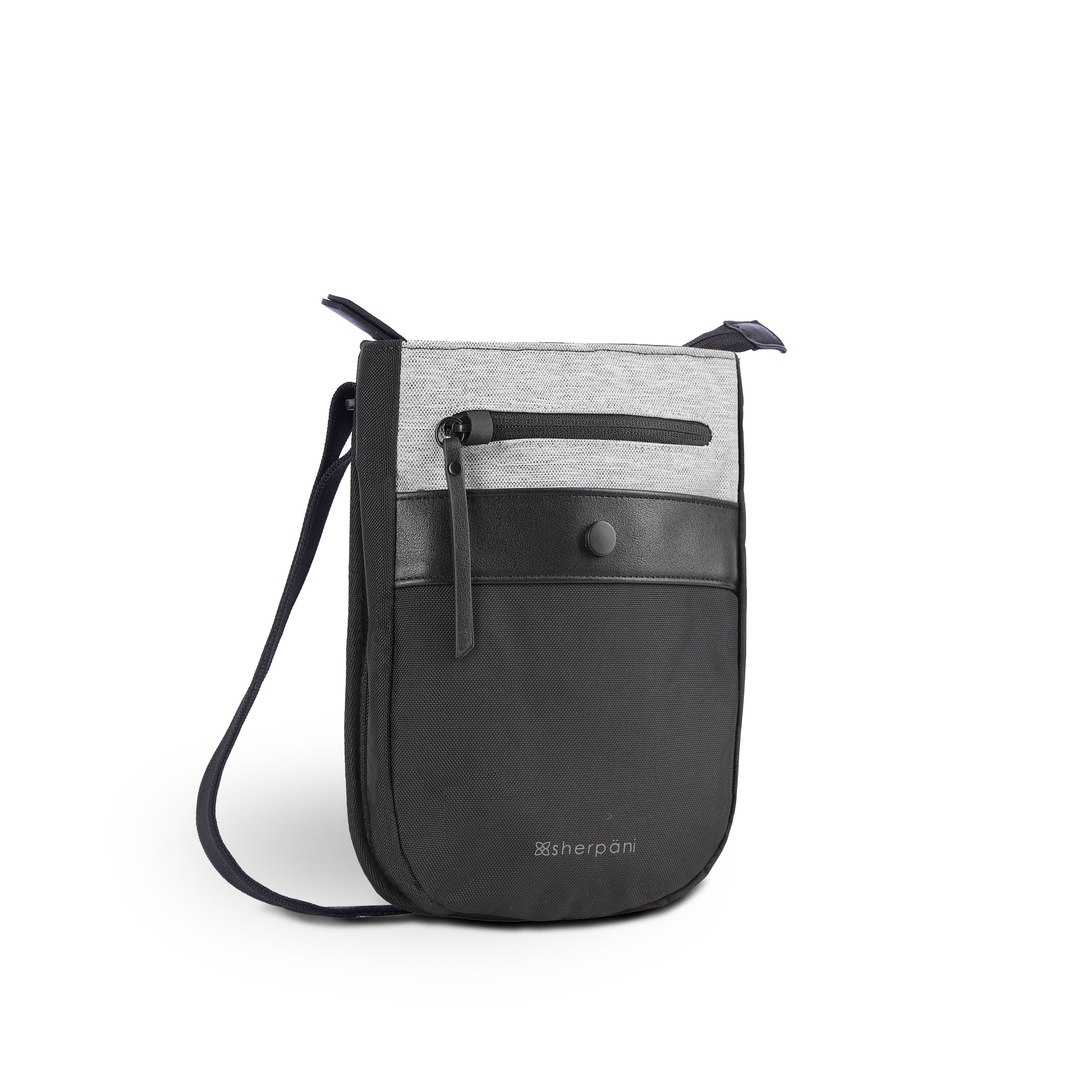 White Anti-theft Crossbody (3/4 Side) with anti-theft features