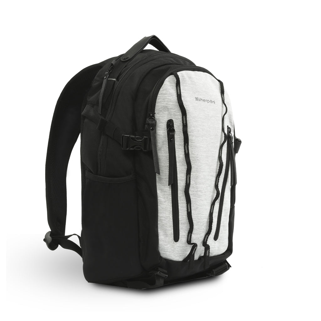 White Anti Theft Trekking Backpack (3/4 Side) with anti-theft features