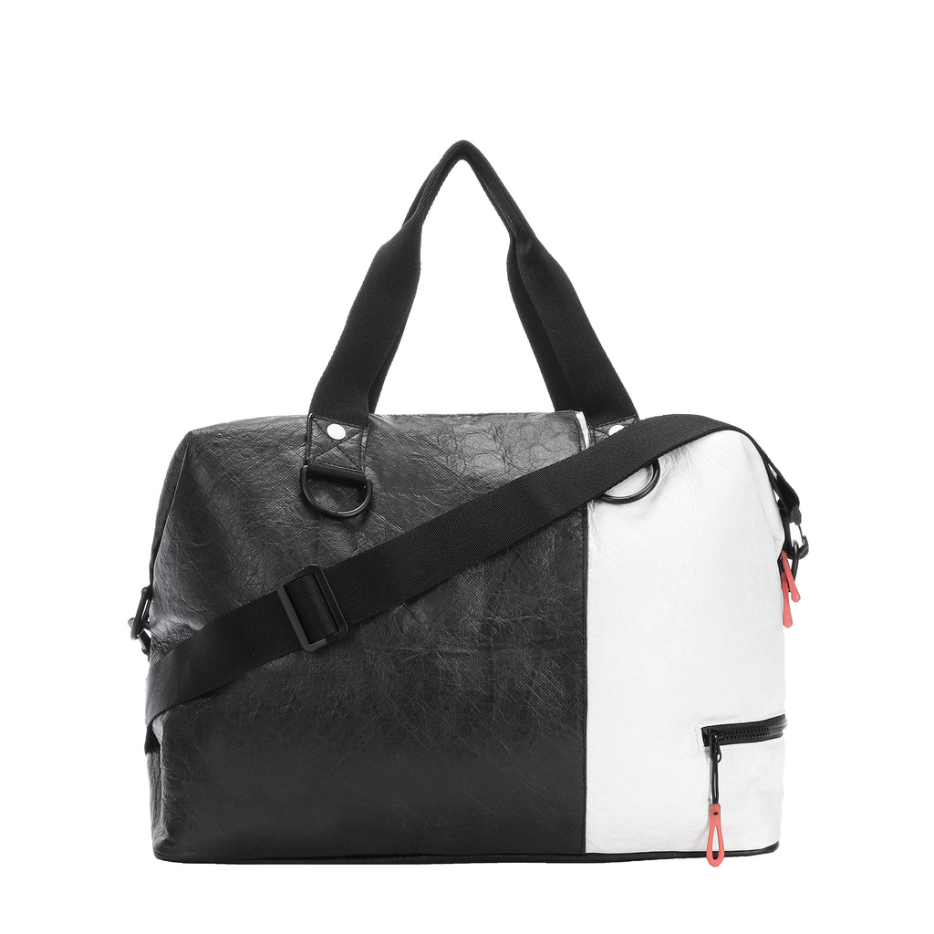 Sherpani Sola (Back), Gym Tote and Crossbody in Tyvek Collection (Black/White)