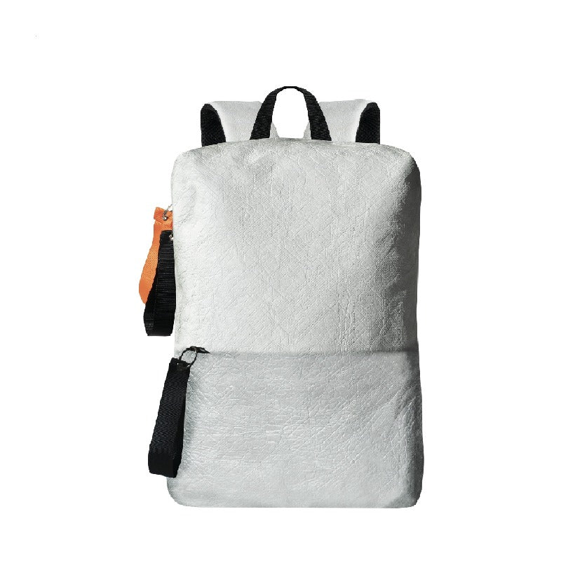 Mia Backpack (Front) in Tyvek Collection (White)