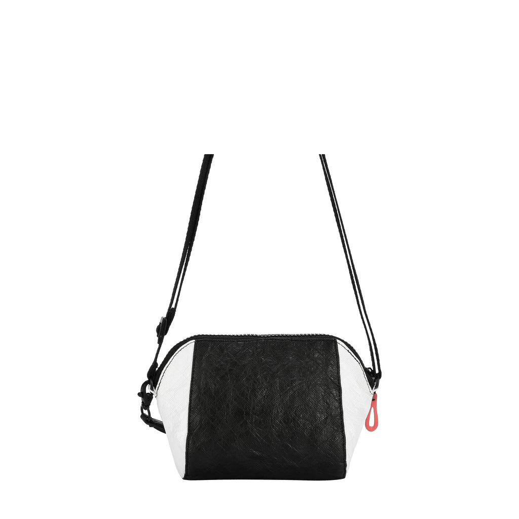 Sherpani Uno Crossbody (Back) in Tyvek Collection (Black/White)