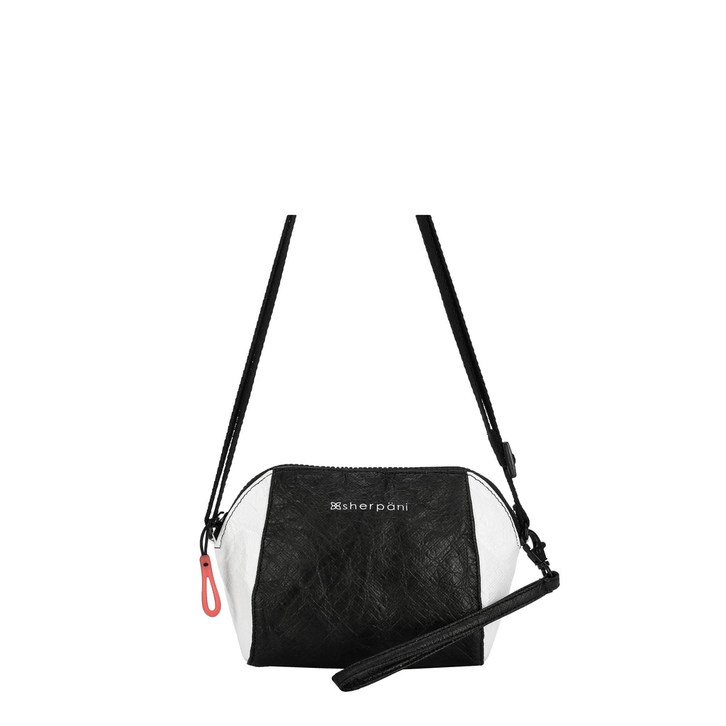 Sherpani Uno Crossbody (Front) in Tyvek Collection (Black/White)