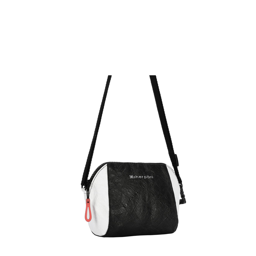 Sherpani Uno Crossbody (Side) in Tyvek Collection (Black/White)