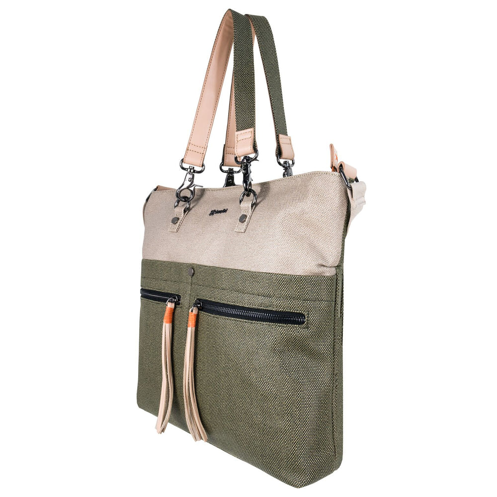 Travel bag, Sherpani bag, crossbody, crossbody bag, shoulder bag, tote, canvas, canvas bag, leather, leather bag, women bag, water resistant, green