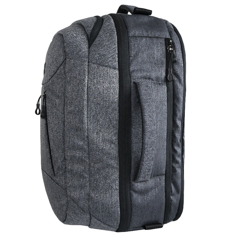 Sherpani Oslo (Side) 38L Nylon Travel Backpack, and Weekender Bag for Men and Women with RFID Protection (Black)
