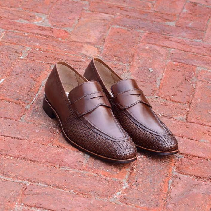 Burlington Calf And Woven In Brown